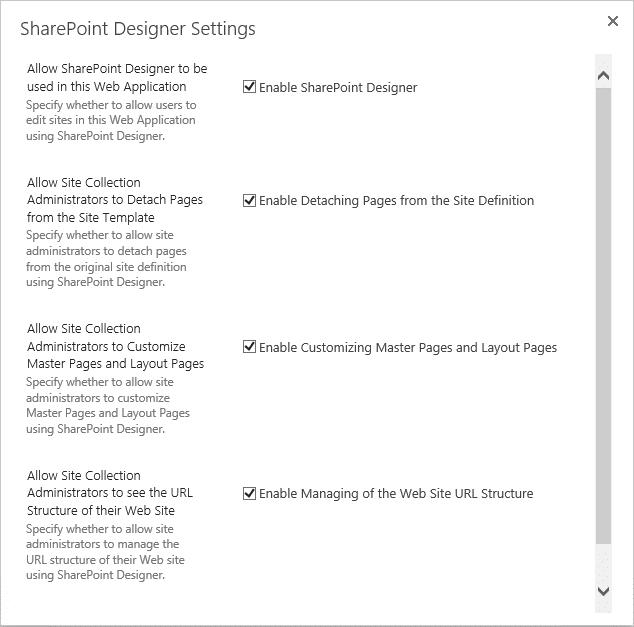 disable sharepoint designer