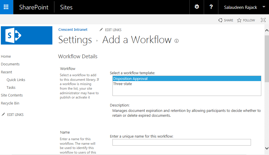 sharepoint approval workflow missing