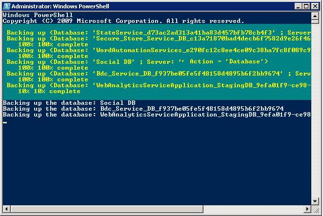 backup all sharepoint databases