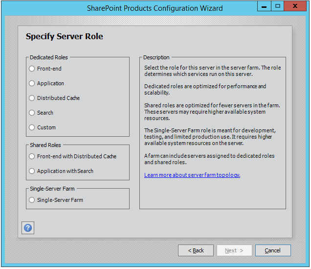 Shared MinRoles in SharePoint 2016 Feature Pack 1