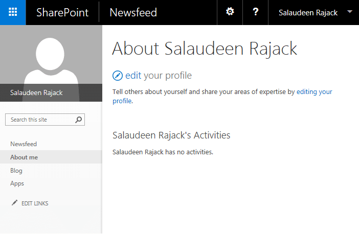 sharepoint my site configuration