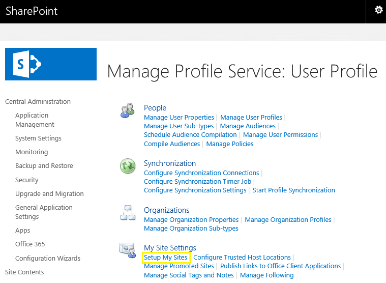 sharepoint 2013 my site step by step