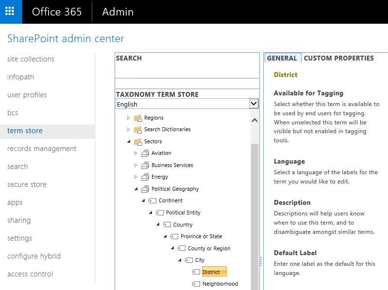 SharePoint Online Export Term Set
