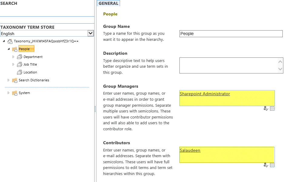 sharepoint online term store permissions