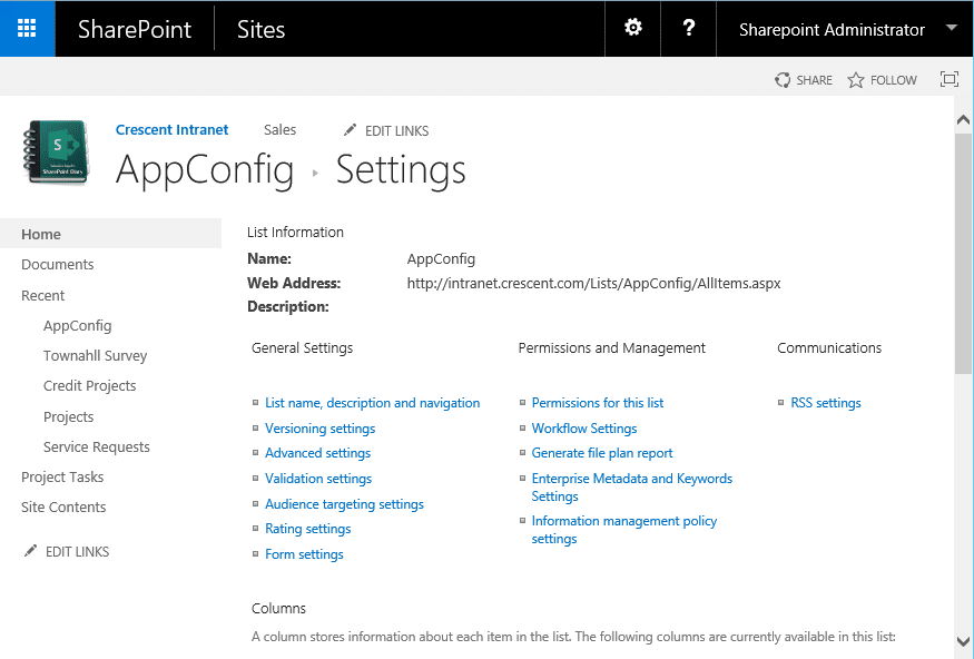 sharepoint delete this list missing