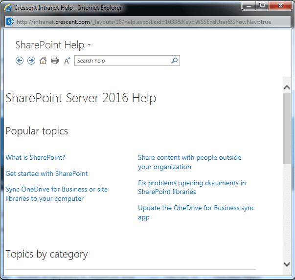 sharepoint 2016 help