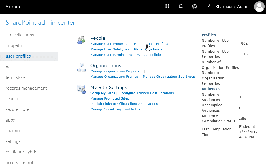 change onedrive site collection administrator