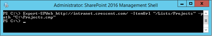 sharepoint export spweb list error