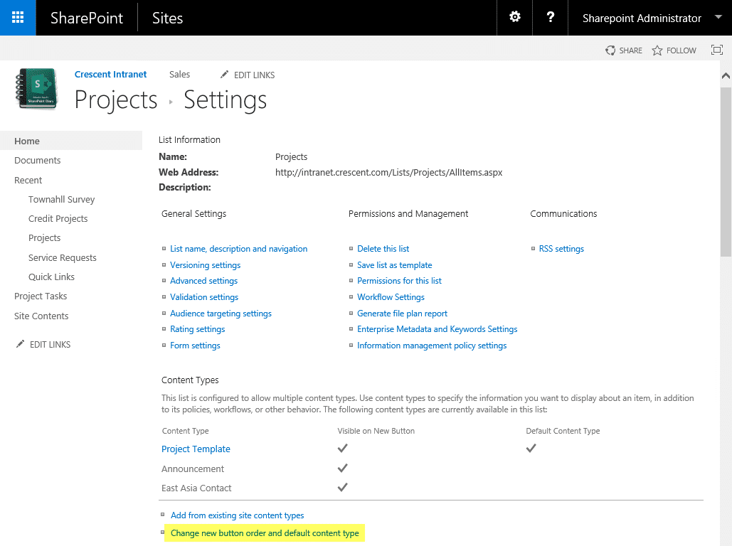 sharepoint hide content type from new button