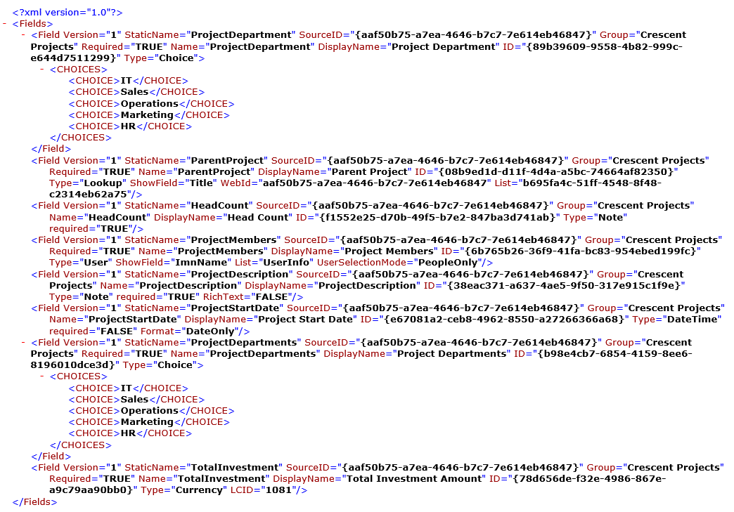 sharepoint online export site columns