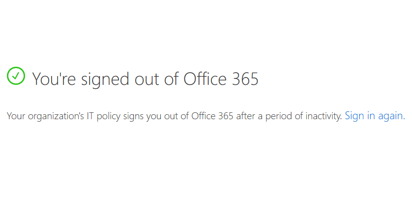 sharepoint online idle session timeout