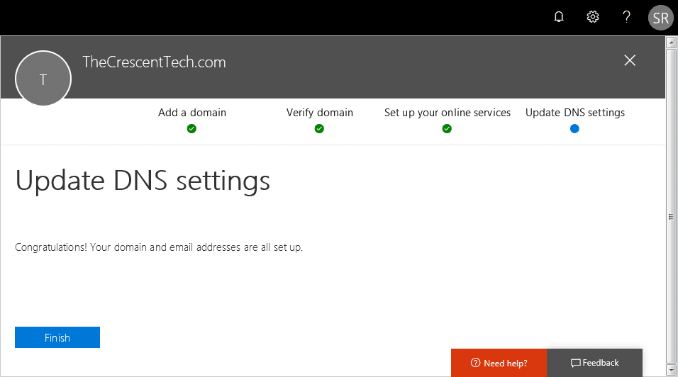 office 365 add domain name