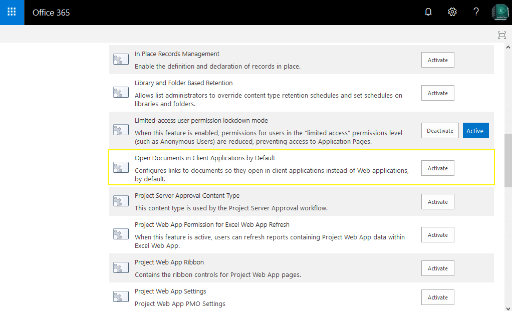 sharepoint online powershell open in client application