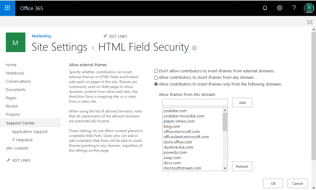 html field security sharepoint online powershell