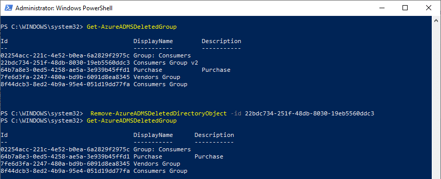 permanently delete office 365 group powershell