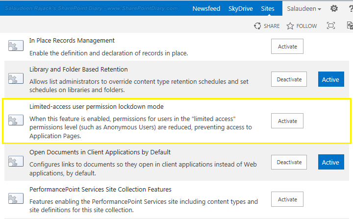 restrict anonymous users to access form application pages