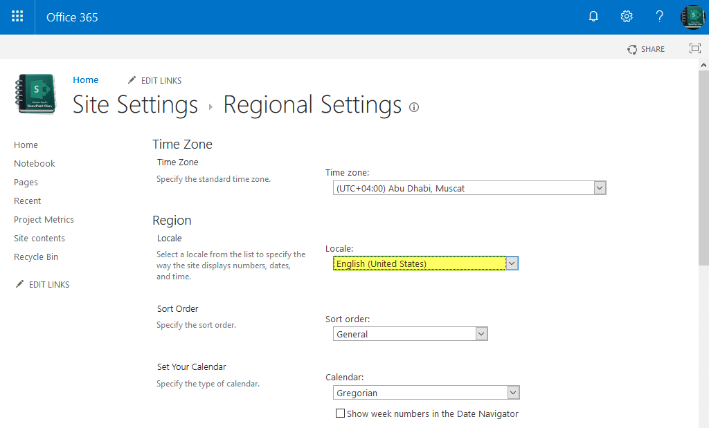 sharepoint online change date format