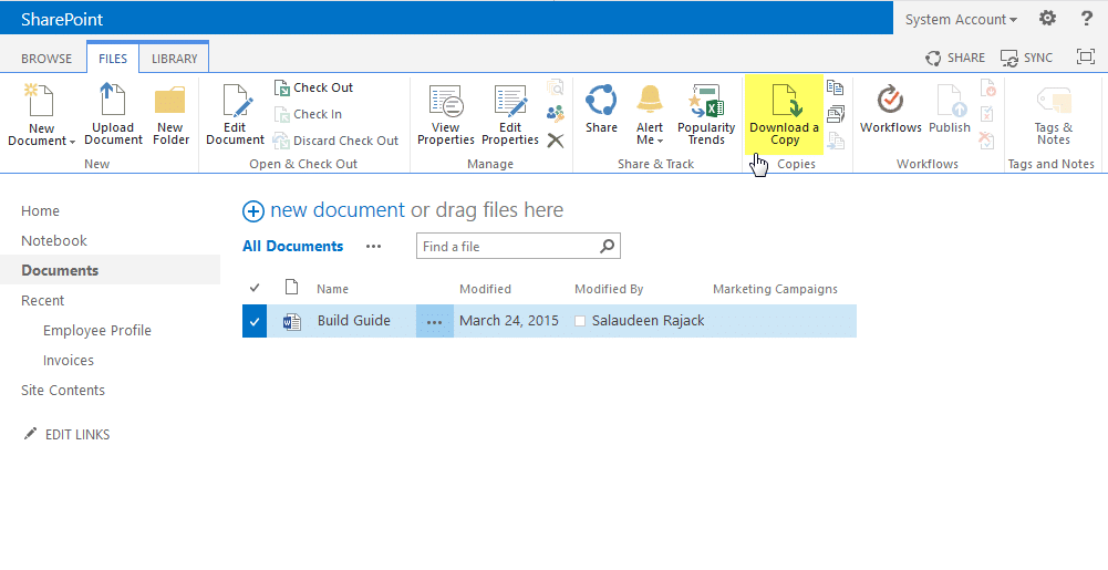 download sharepoint file using powershell