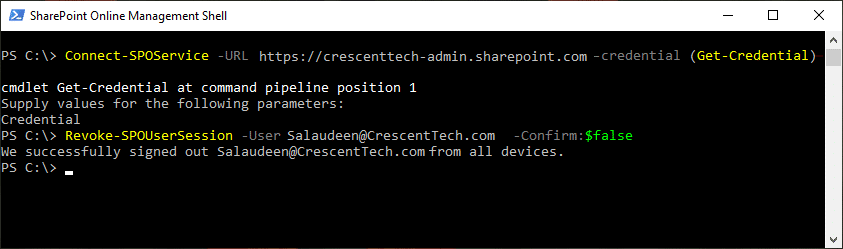 sharepoint online sign out