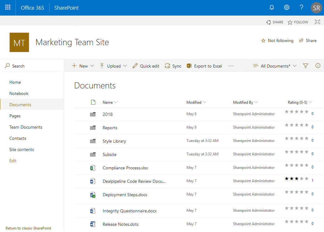 sharepoint online enable rating