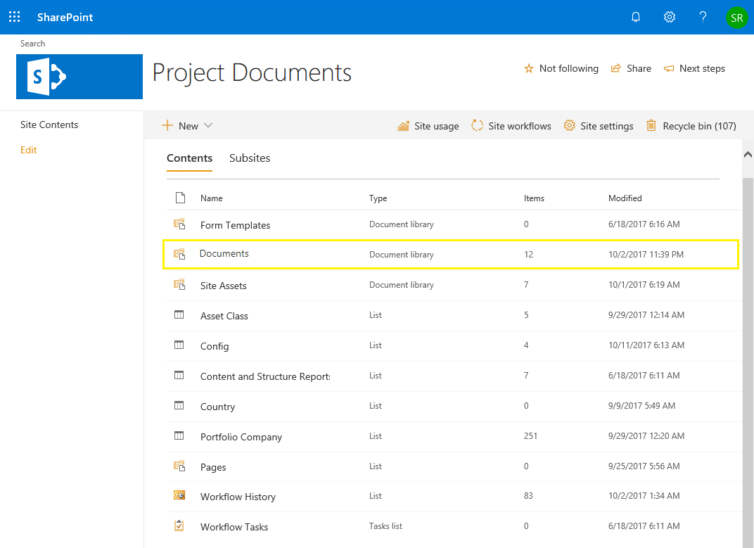 sharepoint online powershell get document library