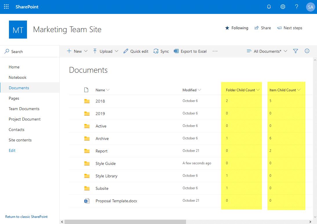 find empty folders in sharepoint online