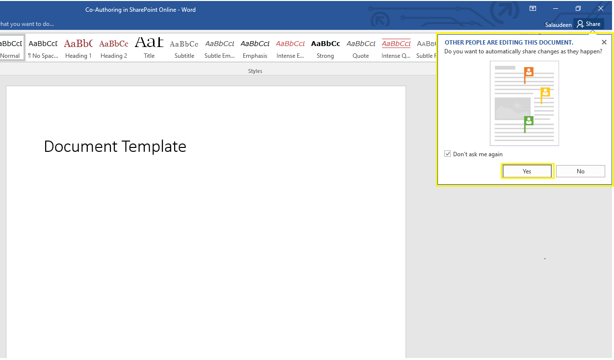 Overview of Co-authoring in SharePoint Online