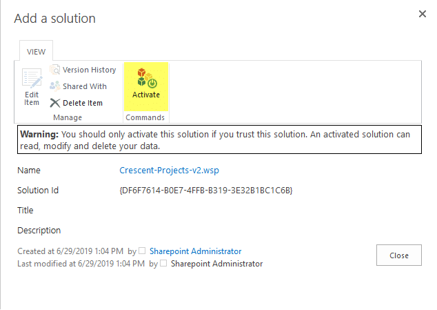 activate design package in sharepoint online