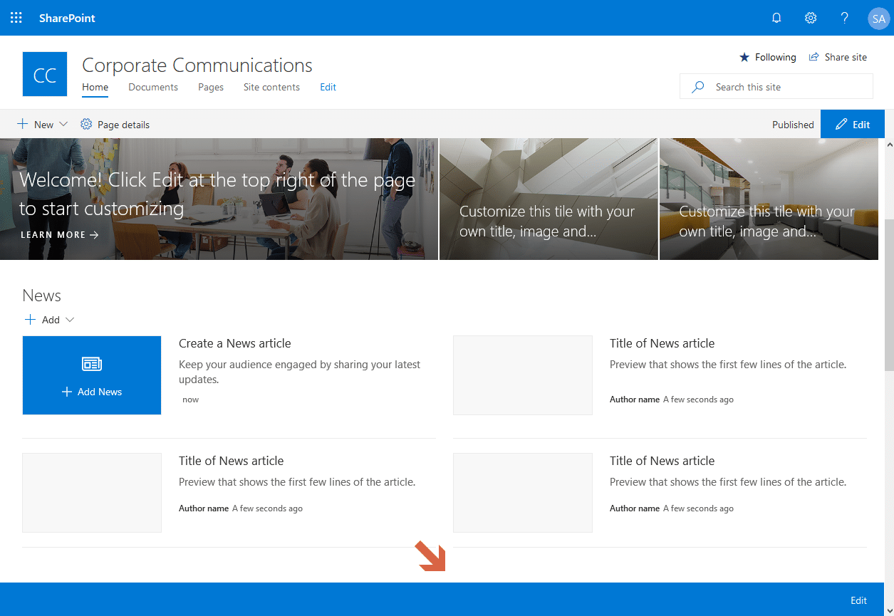 remove sharepoint online communication site footer