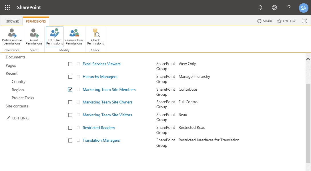 sharepoint permission to add but not delete