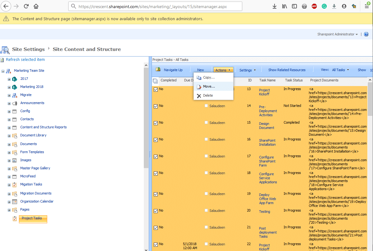 archive sharepoint online list to another list