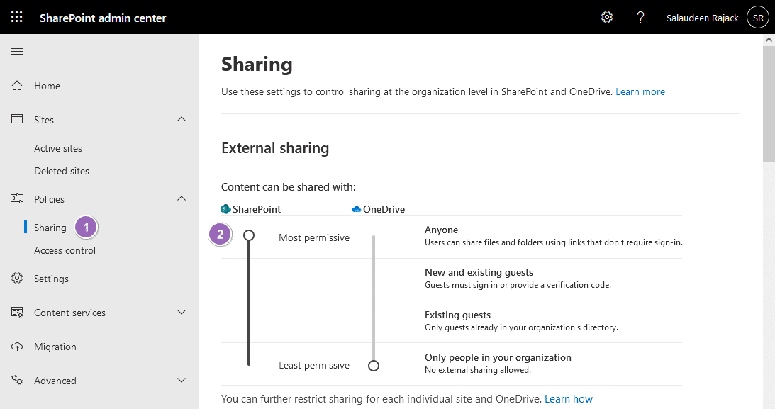 enable anonymous access in sharepoint online