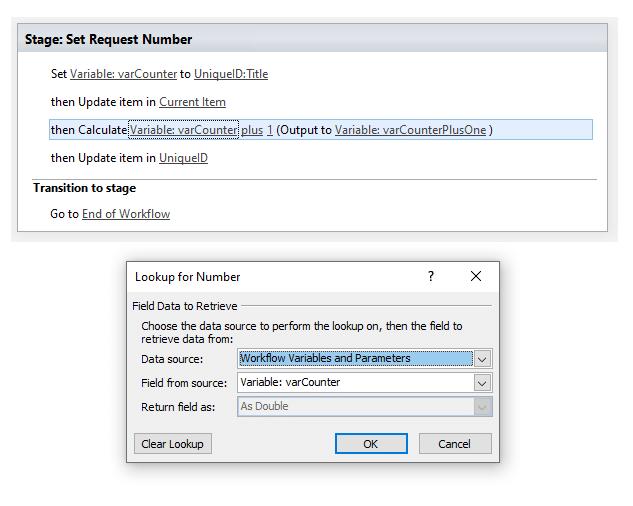 sharepoint designer workflow unique id column