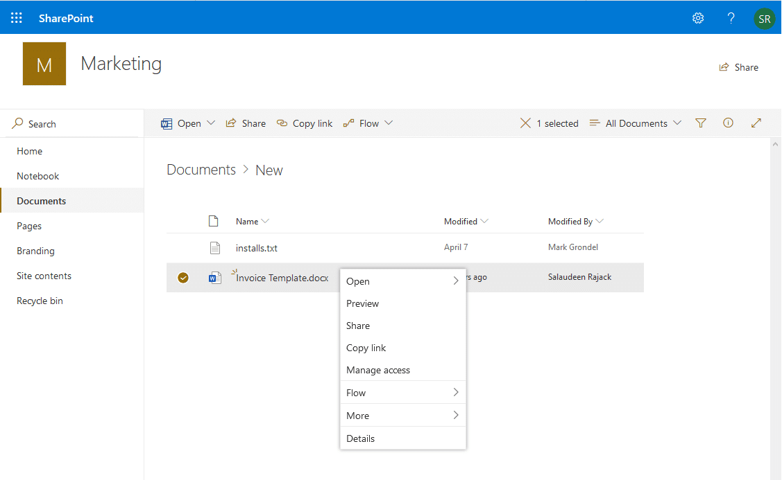 sharepoint online disable download document