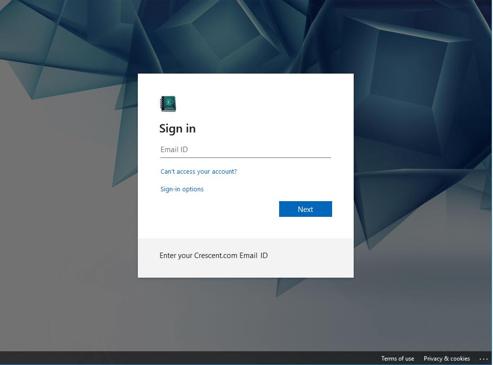 sharepoint online login page branding