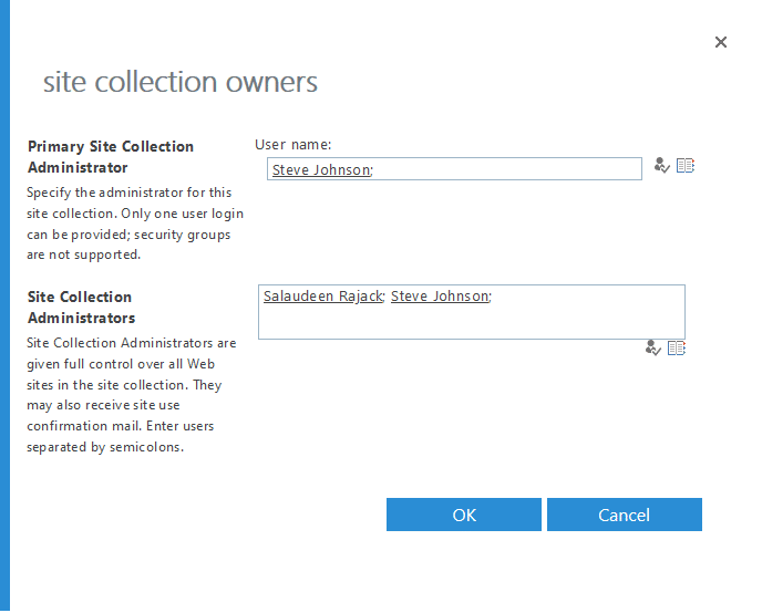 remove site collection admin from onedrive