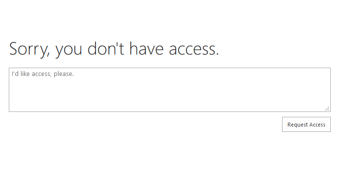 access requests enabled in OneDrive for Business