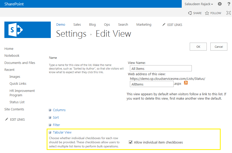 sharepoint 2013 quick edit this control is currently disabled