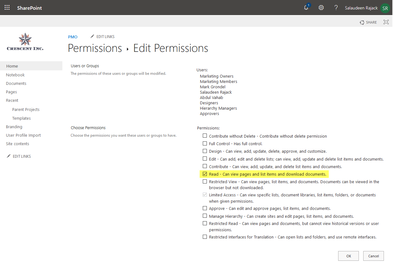 set sharepoint online list read-only