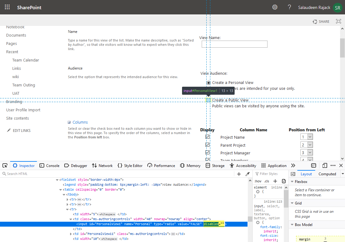 sharepoint how to make a personal view public