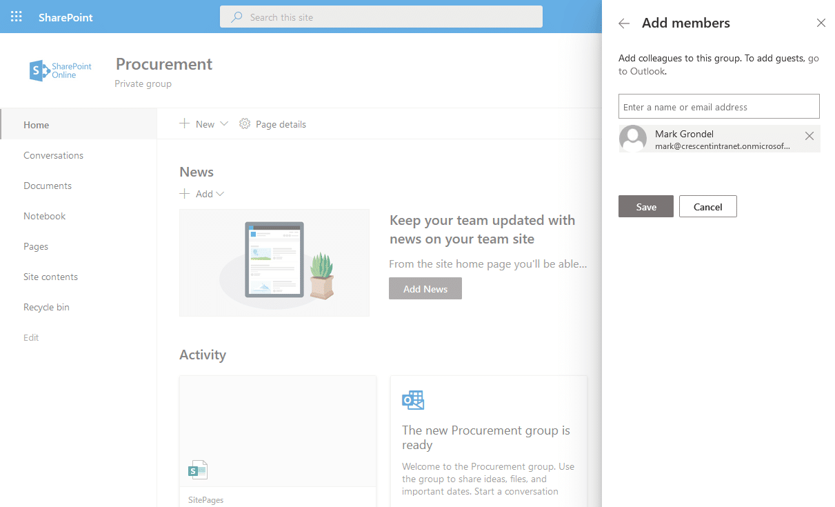 sharepoint online add members