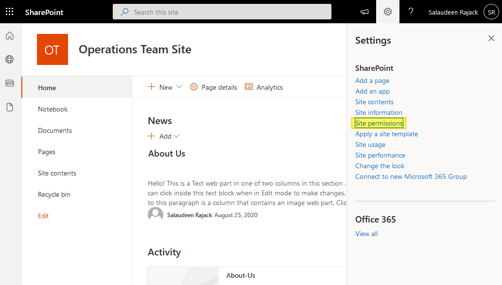 1.add user to site sharepoint online