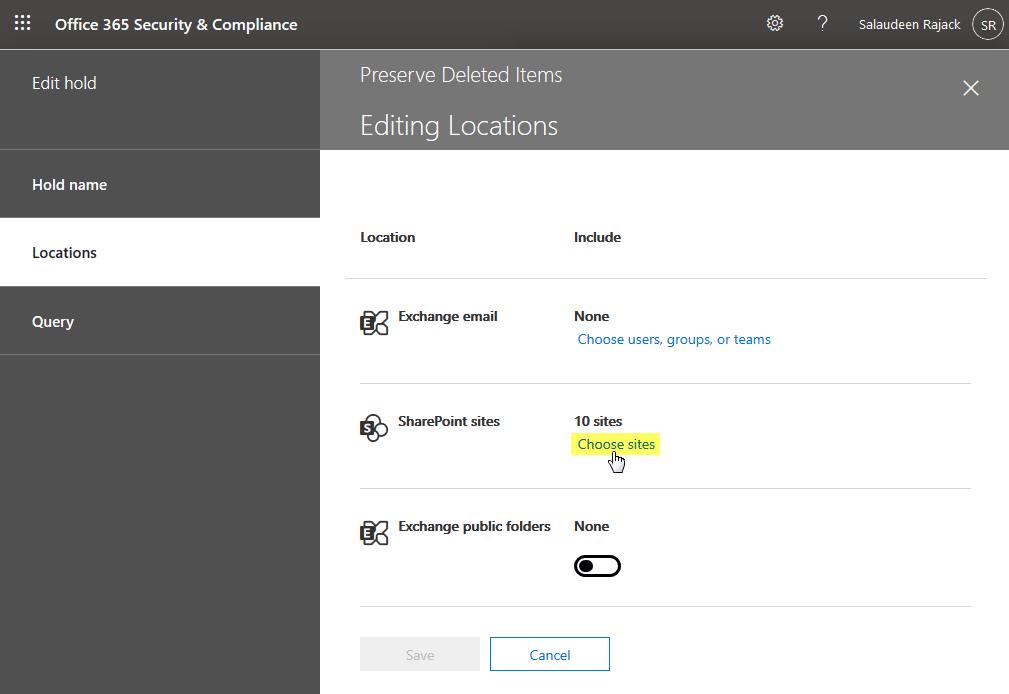 edit hold locations