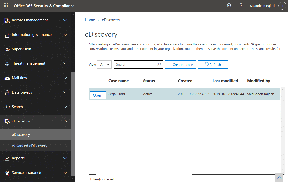 exclude site from ediscovery hold
