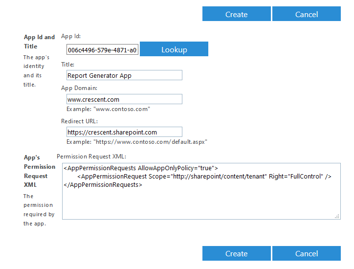 grant permissions to app id in sharepoint online