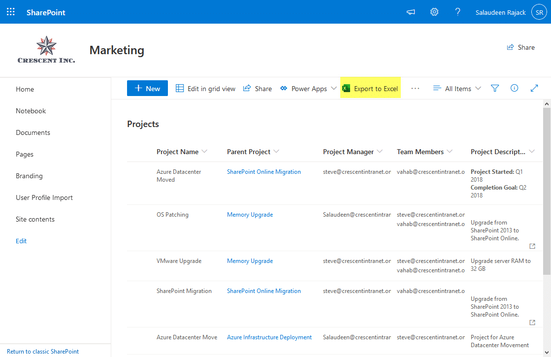 sharepoint online disable export to excel