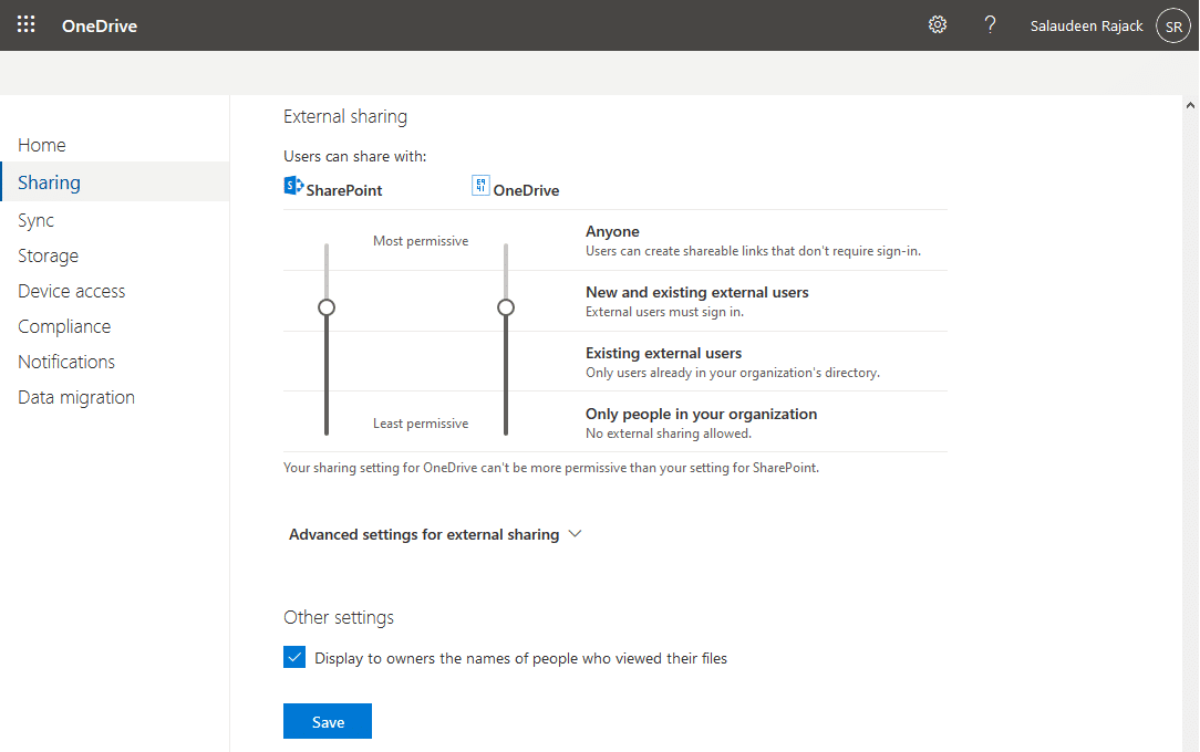 How to Enable External Sharing in OneDrive for Business?