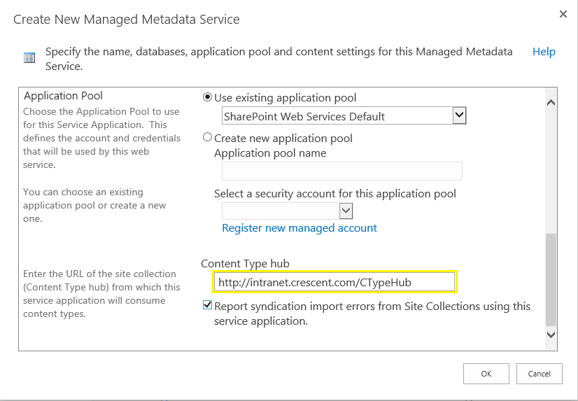 how to setup content type hub in sharepoint 2013