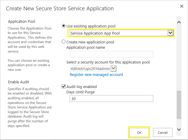 secure store service configuration sharepoint 2013
