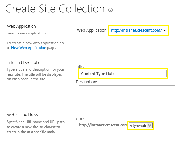 create a content type hub sharepoint 2013